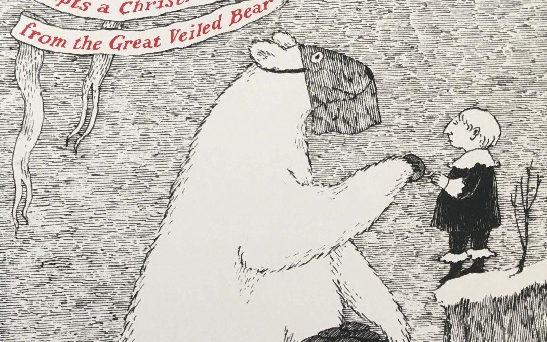 polar bear offering a cookie