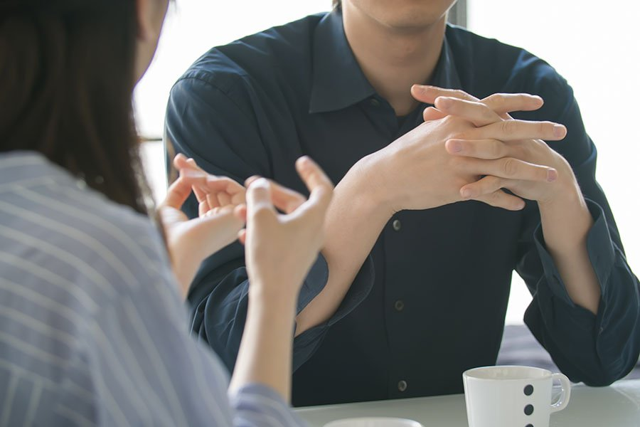 young employees engaged in conflict resolution